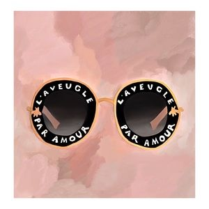 FRAMED GUCCI SUNGLASSES PAINTING PRINT